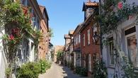 Люнебург, улочка, по которой бегал Иоганн Себастьян Бах в церковь Св. Михаила петь в хоре мальчиков