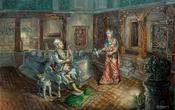 Ролмантический вечер Пратап Маллы с женой Rupmati. Из интернета