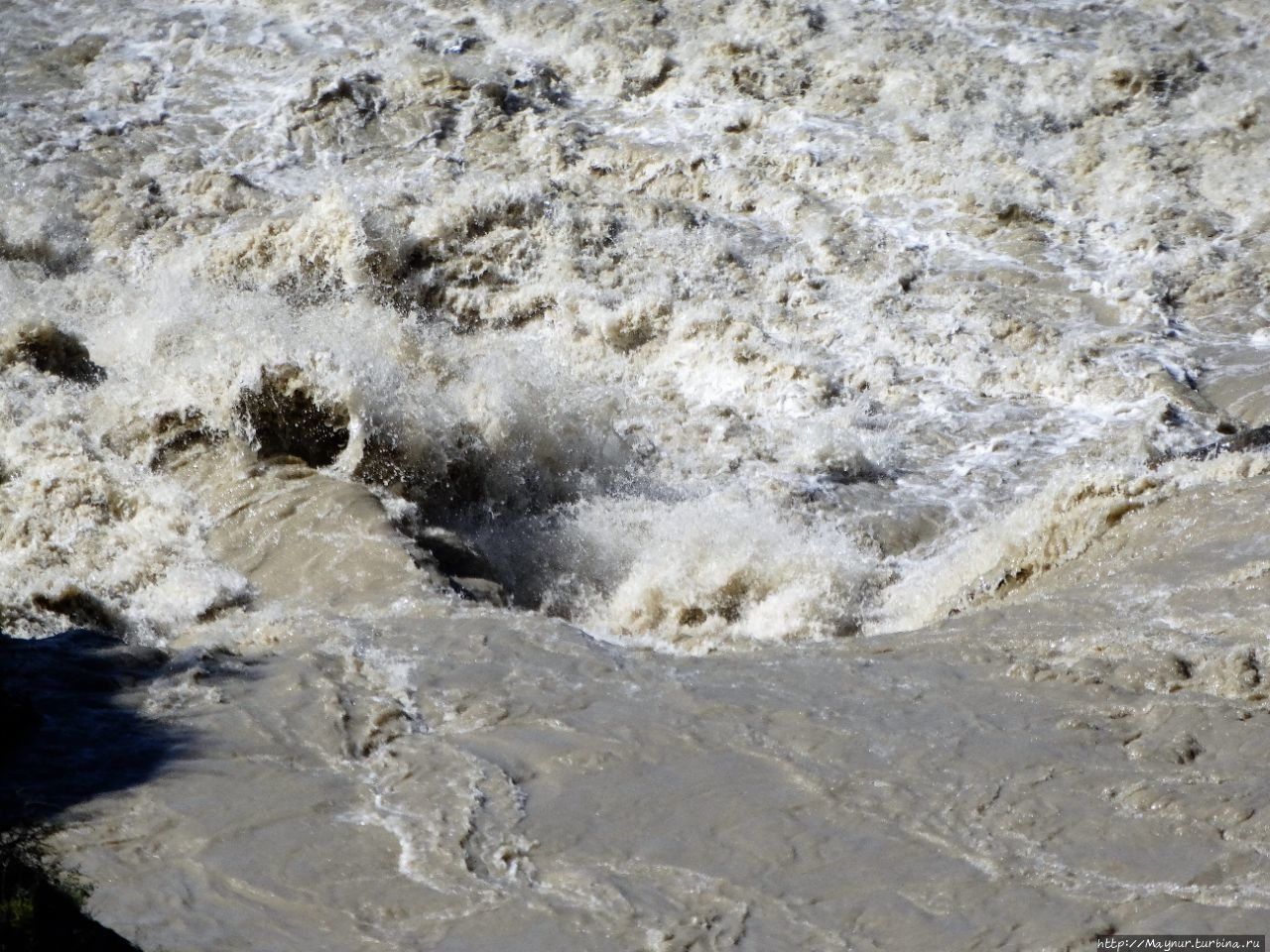 Вихри порога на  реке Чуя