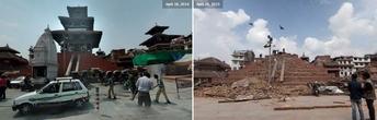 Катманду. Маджу Дэвал (Maju Deval, или Maju Dega). Из интернета ДО и ПОСЛЕ землетрясения