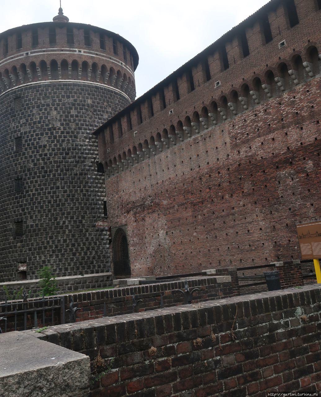 Облик крепости Сфорца взя