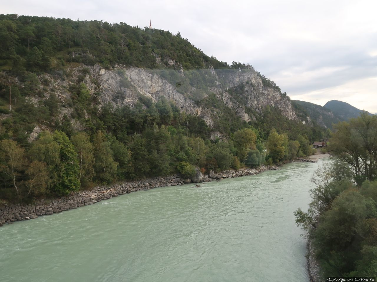 Река Инн возле Инсбрука с