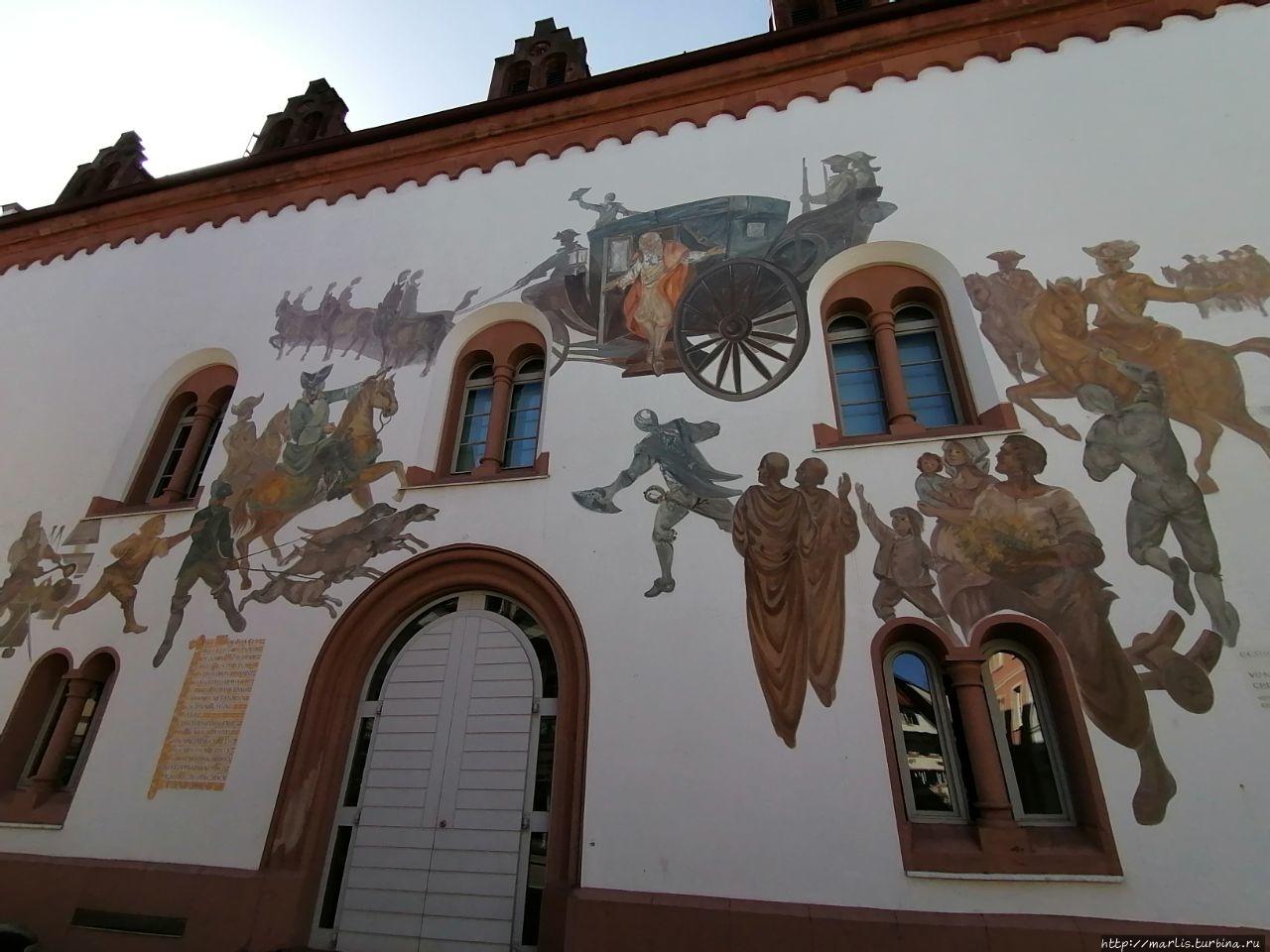 Фреска на стене Кауфхауза