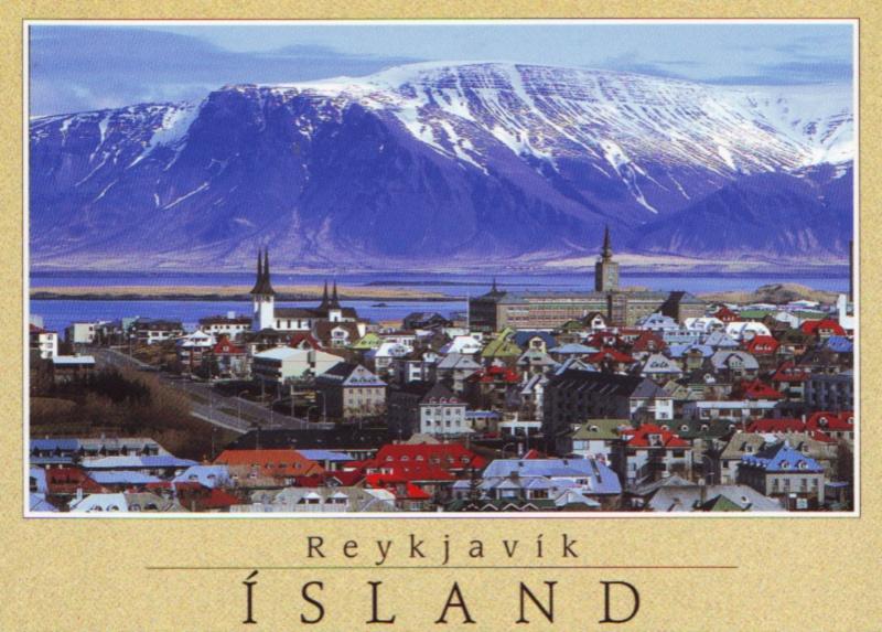 Исландия открытки, новый год