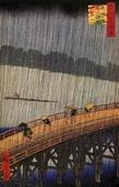 Ливень над мостом Охаси, автор — Андо Хиросиге. Фото из интернета.