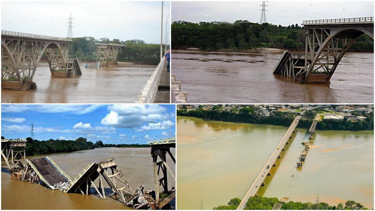 Остатки моста им. Президента Жетулиу Варгаса Линьярес, Бразилия