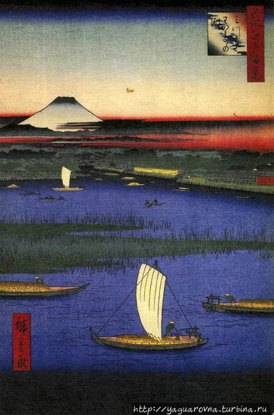 Мицумата Вакарэнофути, автор — Андо Хиросиге. Фото из интернета. Токио, Япония